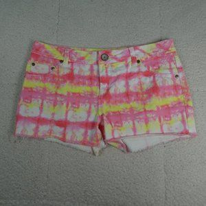Justice Premium Pink/Yellow Tie Dye Shorts 18R